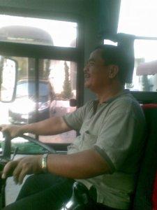 Salah Satu Sopir Bus Santoso