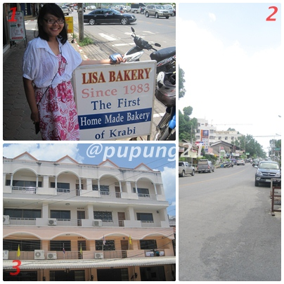 1. Lisa with her bakery shop :) | 2. Krabi Town | 3. Good Dream 2 ruko paling kanan