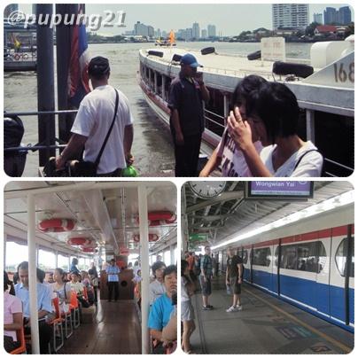 Chao Phraya boat & Bangkok Sky Train