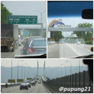 Thailand - Malaysia Border. Lower pict: Pinang Bridge